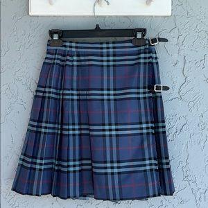 BURBERRY Girl's Rare Blue Mini Kilt